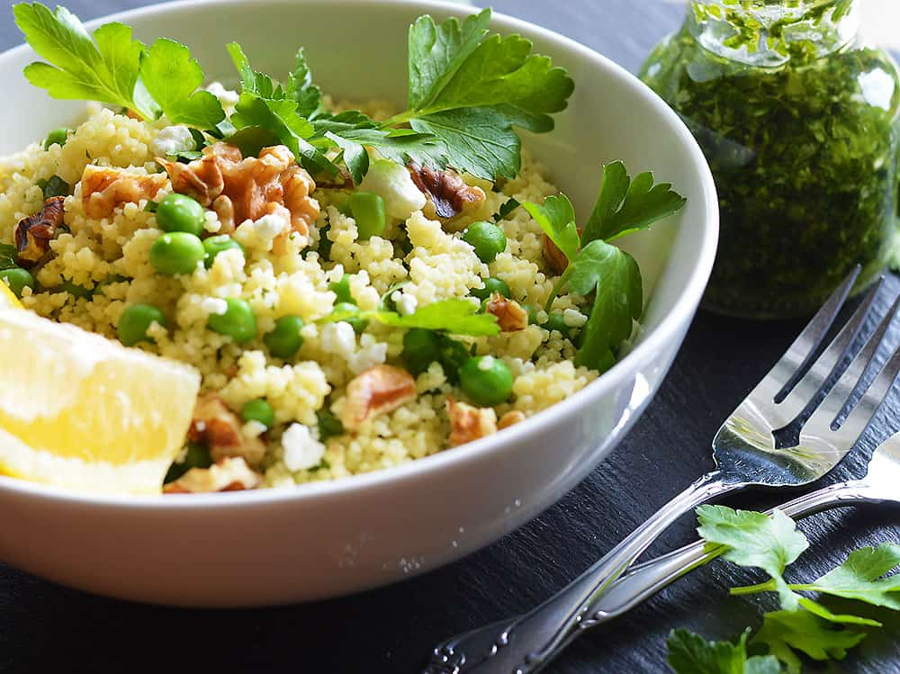 Couscous Salad with Basil Vinaigrette