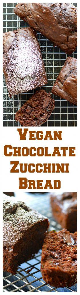 Vegan Chocolate Zucchini Bread Long Pin