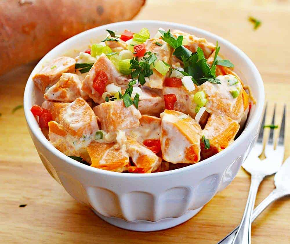 Creamy Vegan Sweet Potato Salad