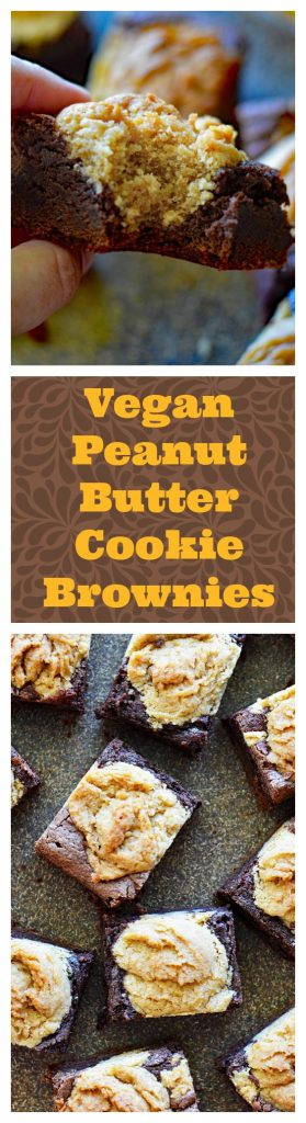Vegan Peanut Butter Cookie Brownies LONG PIN