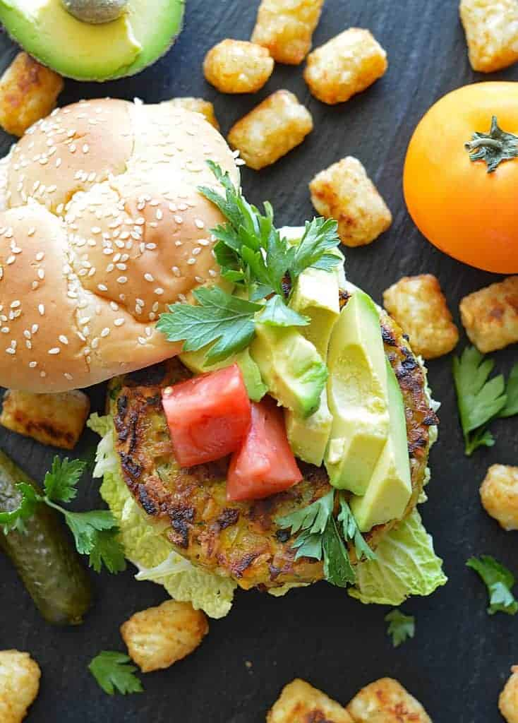 Vegan Golden Beet Burgers