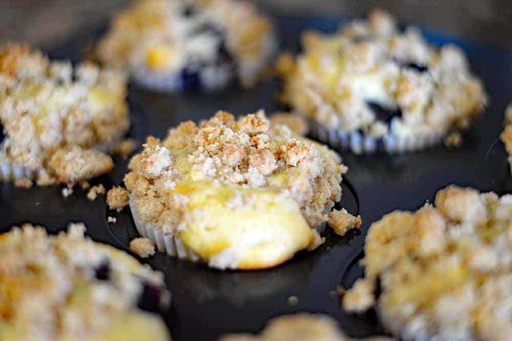 Vegan Blueberry Lemon Streusel Muffins with Blueberry Butter