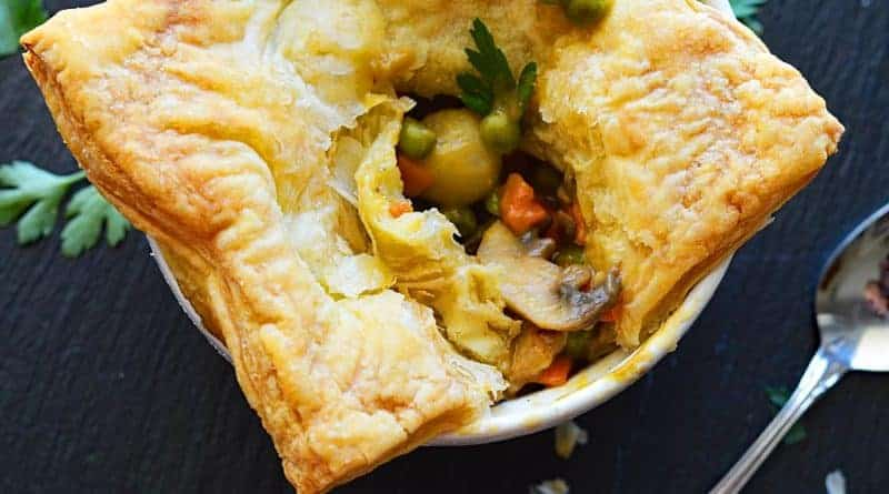 Vegan Pot Pie with Puff Pastry Crust