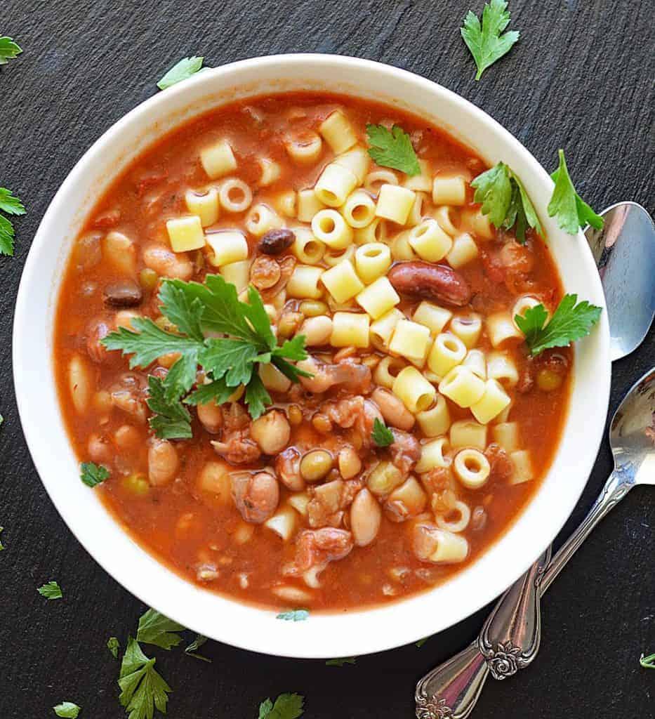 16 Bean Pasta e Fagioli (Pressure Cooker/Stove Top)