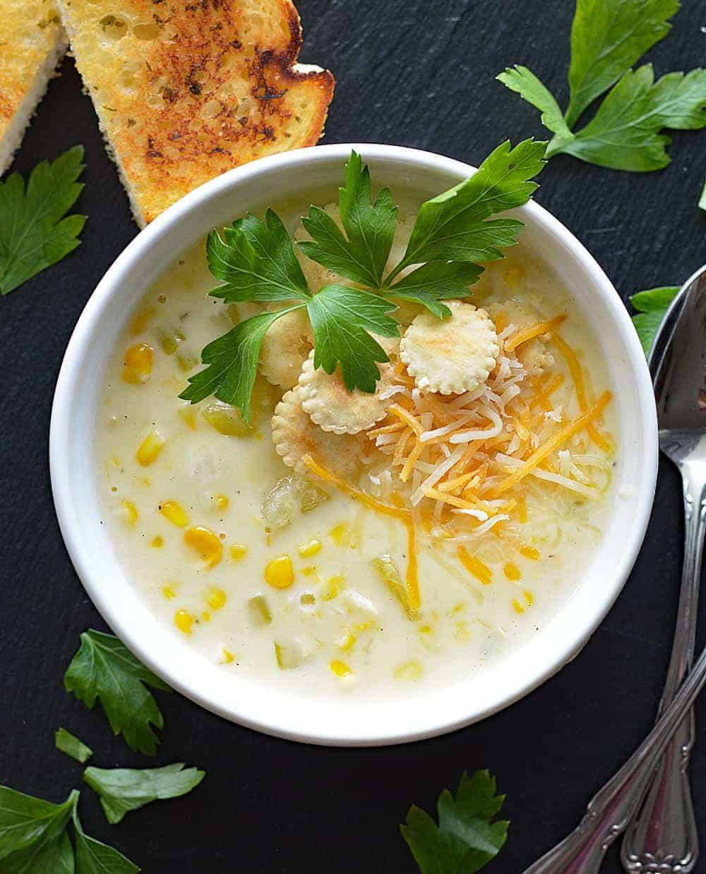 Vegan Cafe Corn Chowder