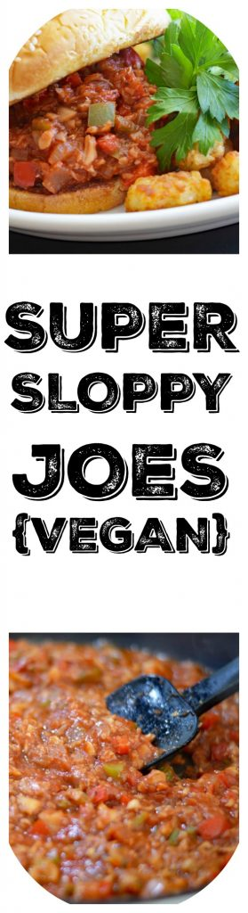 Super Sloppy Joes {Vegan}