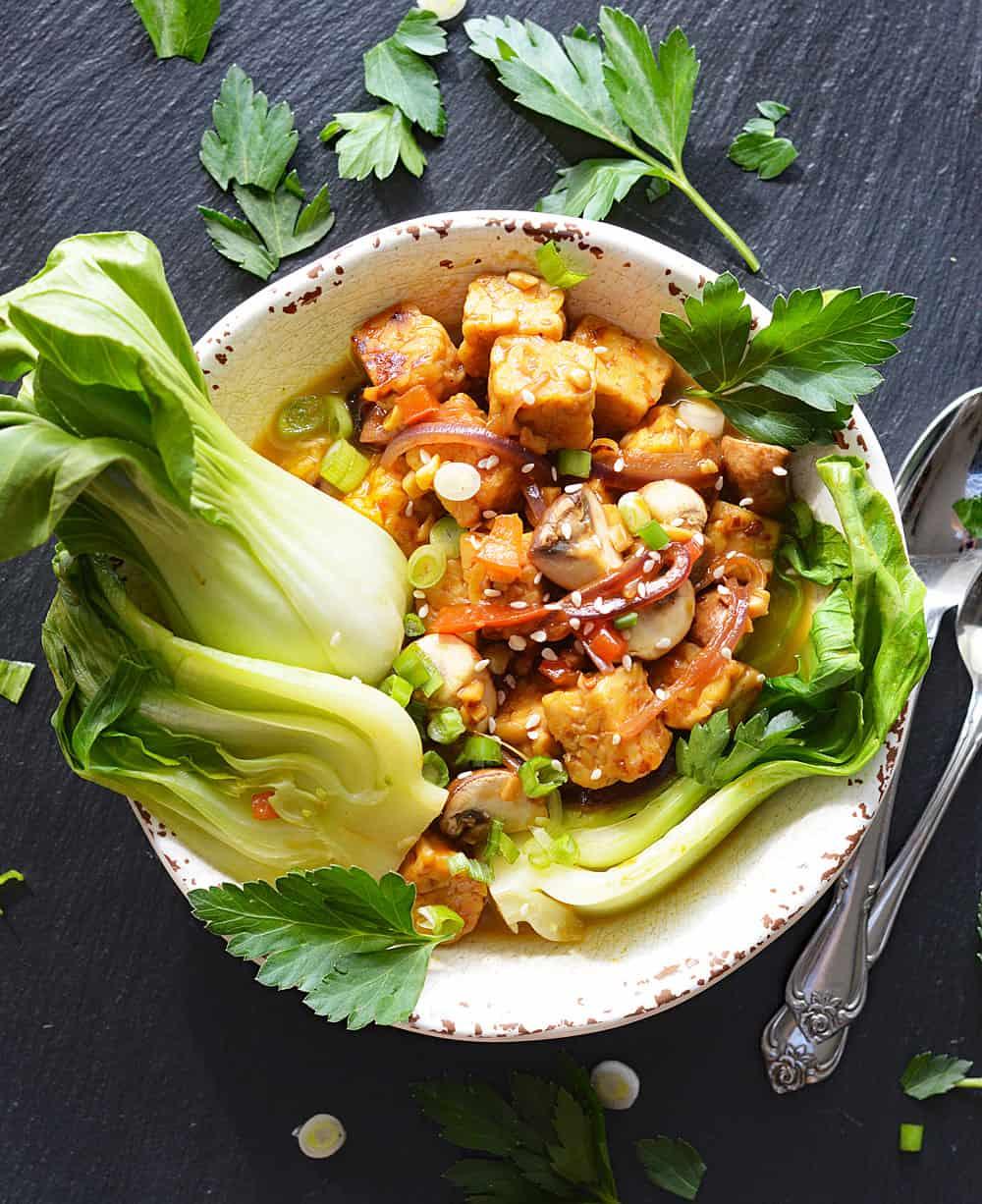 Vegan Tempeh Umami Bowl