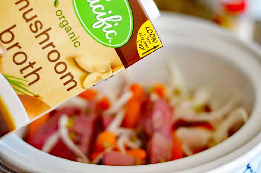 Slow Cooker Corned Jackfruit and Cabbage
