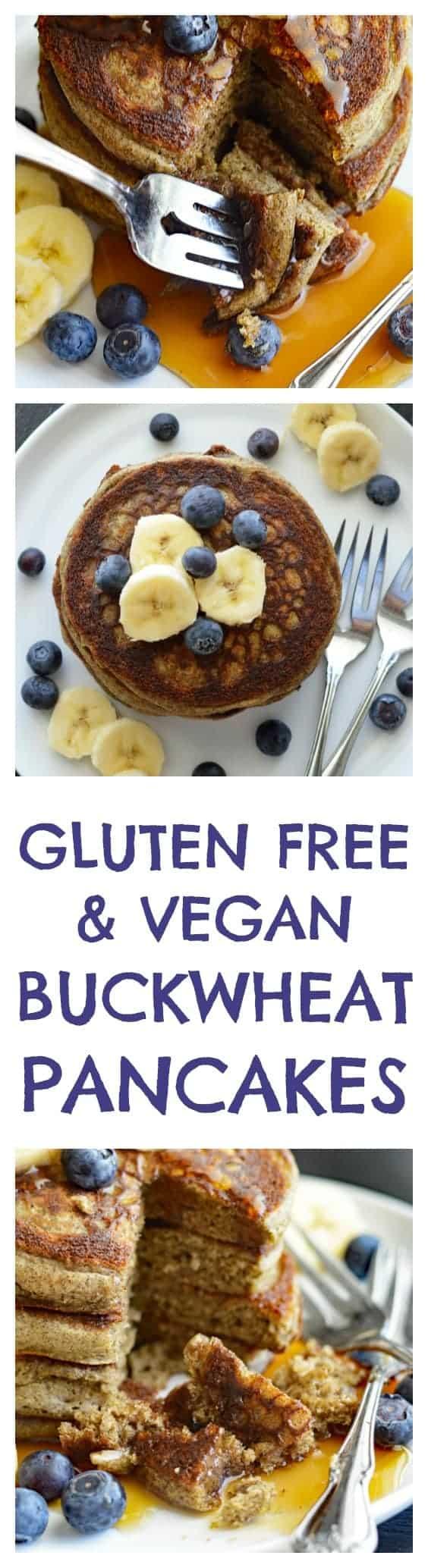 Gluten Free Vegan Buckwheat Pancakes