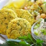Golden Turmeric Air Fryer Falafel