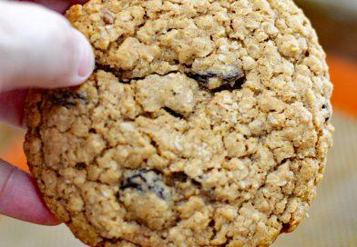Big & Chewy Vegan Oatmeal Raisin Cookies