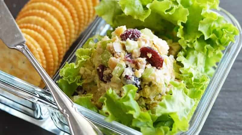 Vegan Cranberry Walnut Chickpea Salad Recipe