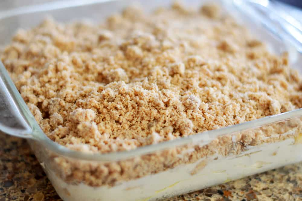 Add the crumble topping