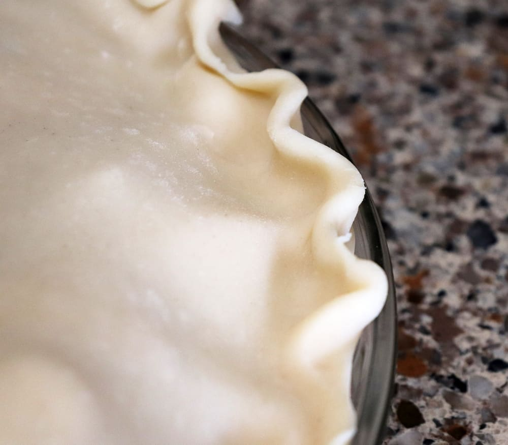 Photo of crimped dough edge