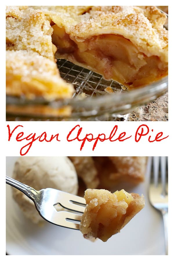 Pinterest Image for Vegan Apple Pie