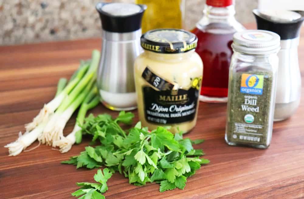 Ingredients for Warm Potato Salad with Dijon Vinaigrette
