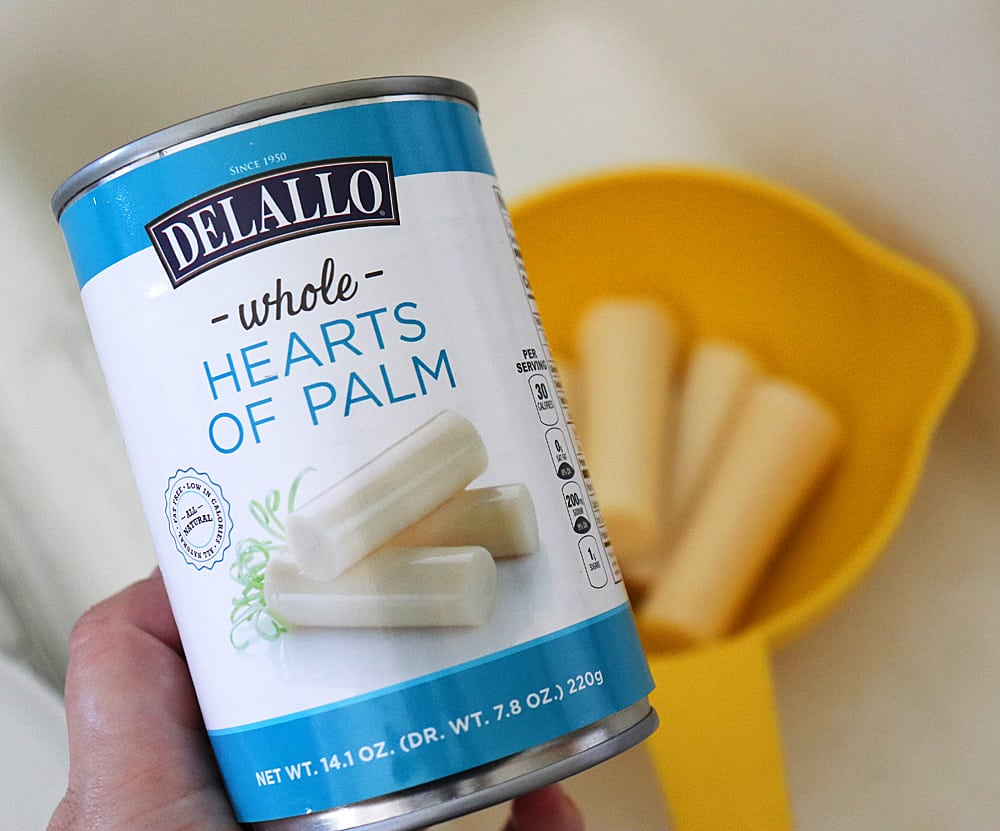 Can of hearts of palm