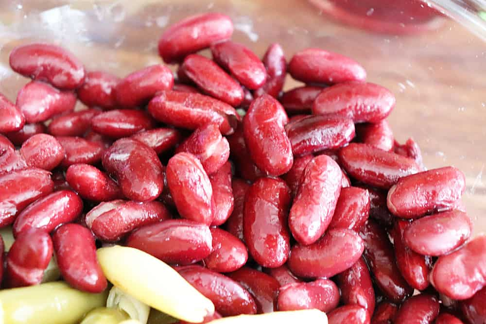 Kidney Beans in a glass bowl