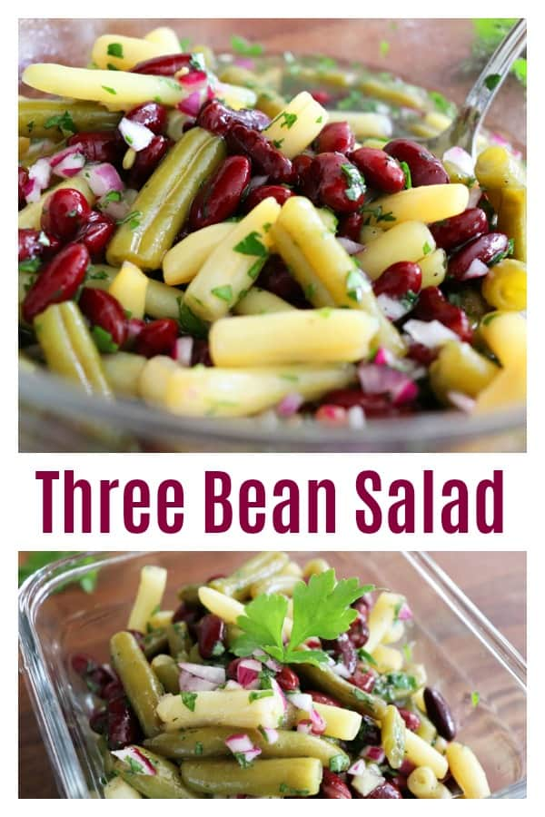 Pinterest Image for Three Bean Salad