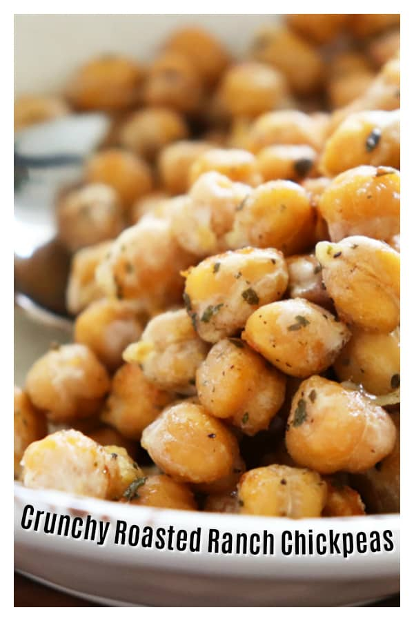 Crunchy Roasted Ranch Chickpeas PIN