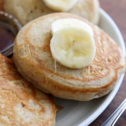 Light and Fluffy Vegan Banana Pancakes Hero Shot