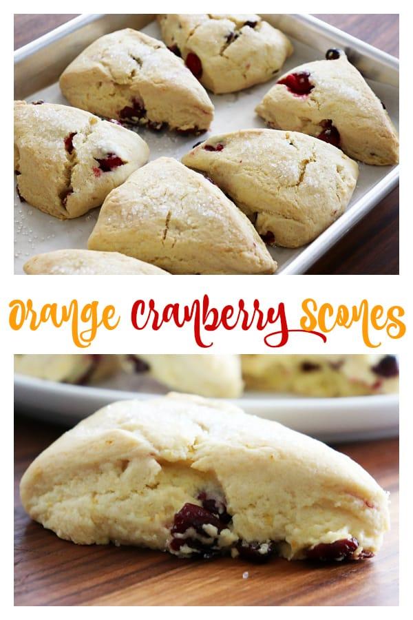 Pinterest image for Vegan Orange Cranberry Scones