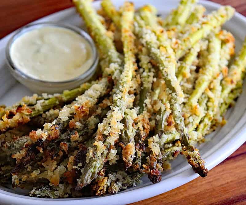 Panko Roasted Asparagus Hero Shot