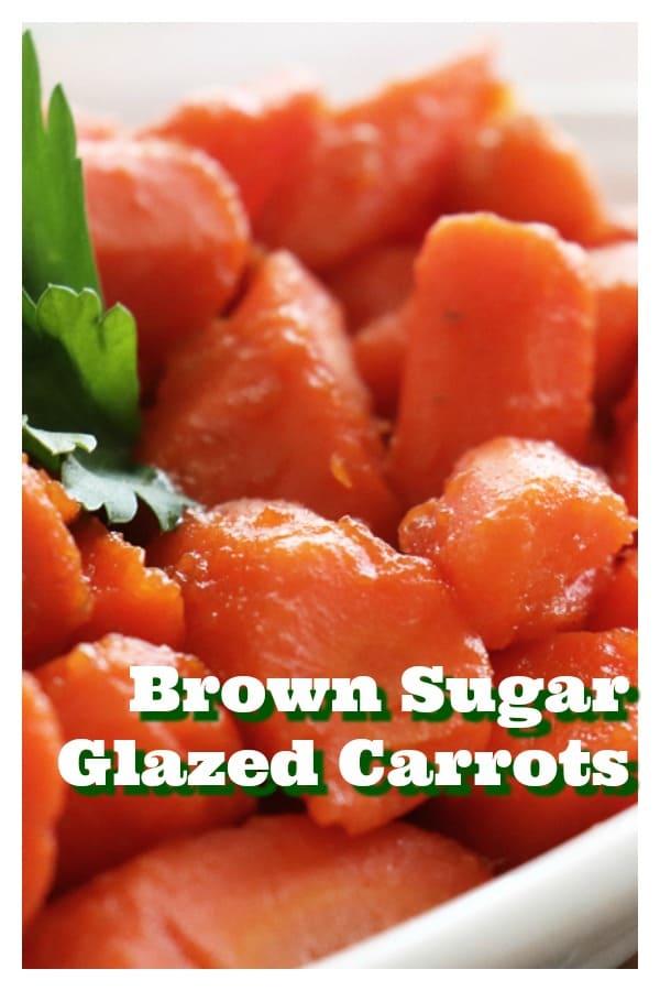 Pinterest Image for Easy Glazed Carrots