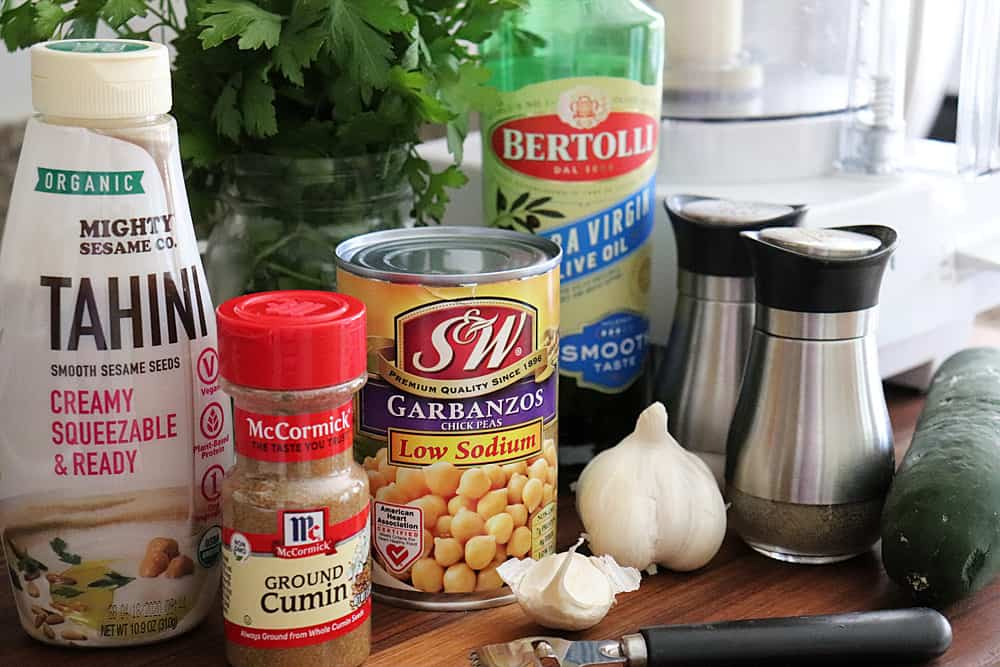 Ingredients for Classic Hummus