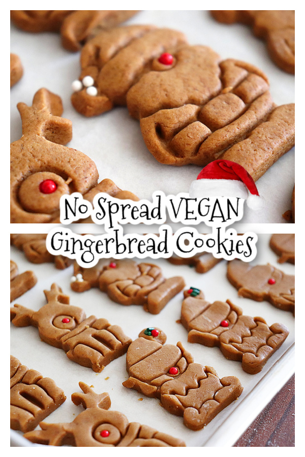 Pin for Vegan Gingerbread Cookies that won't spread