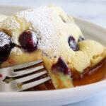 Vegan Lemon Blueberry Sheet Pan Pancakes Hero Image