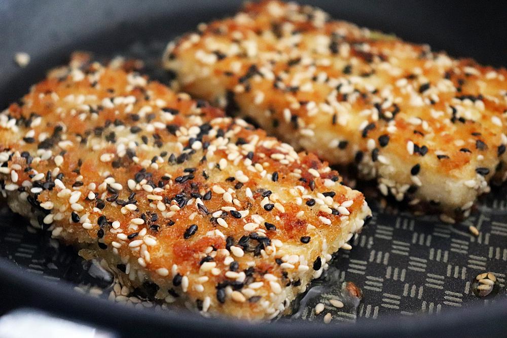 Pan Seared Sesame Crusted Tofu Steaks