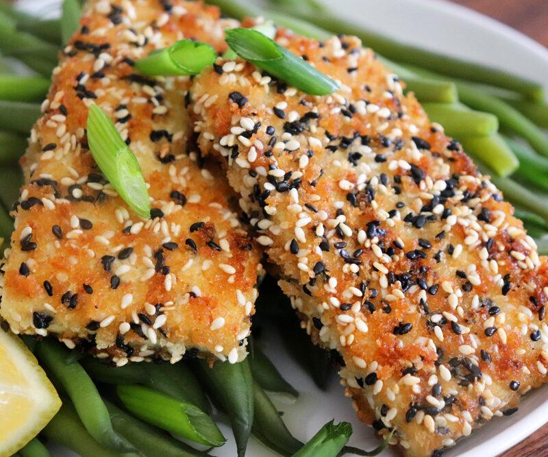Pan Seared Sesame Crusted Tofu Steaks Hero Shot