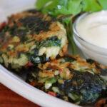 Vegan Spinach and Brown Rice Cakes Hero Shot