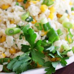 Vegan Corn Fried Cauliflower Rice HERO