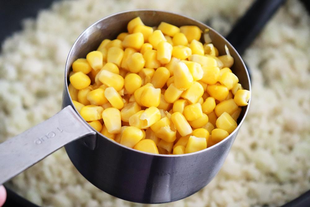 Adding sweet corn